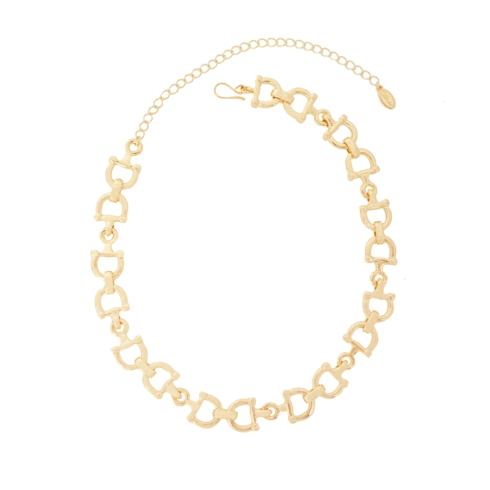"$199 Link Necklace 16""-Gold Tone"